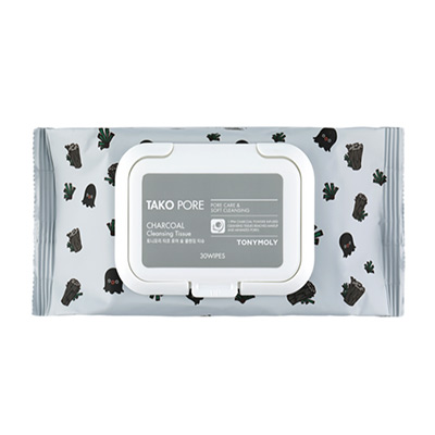 TONYMOLY Tako Pore Charcoal<br> Cleansing Tissue