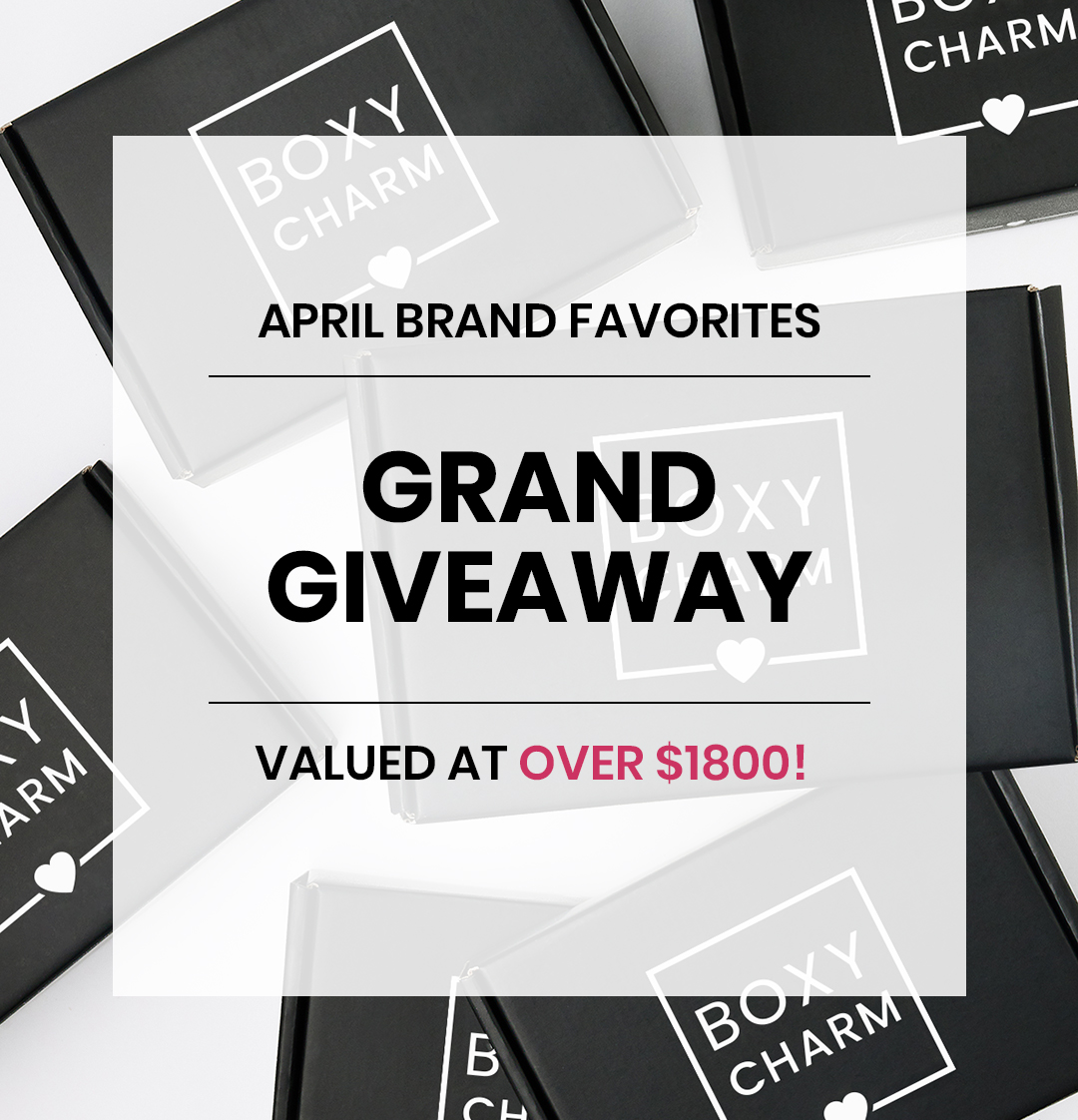 BoxyCharm April Giveaway Valued over $1800