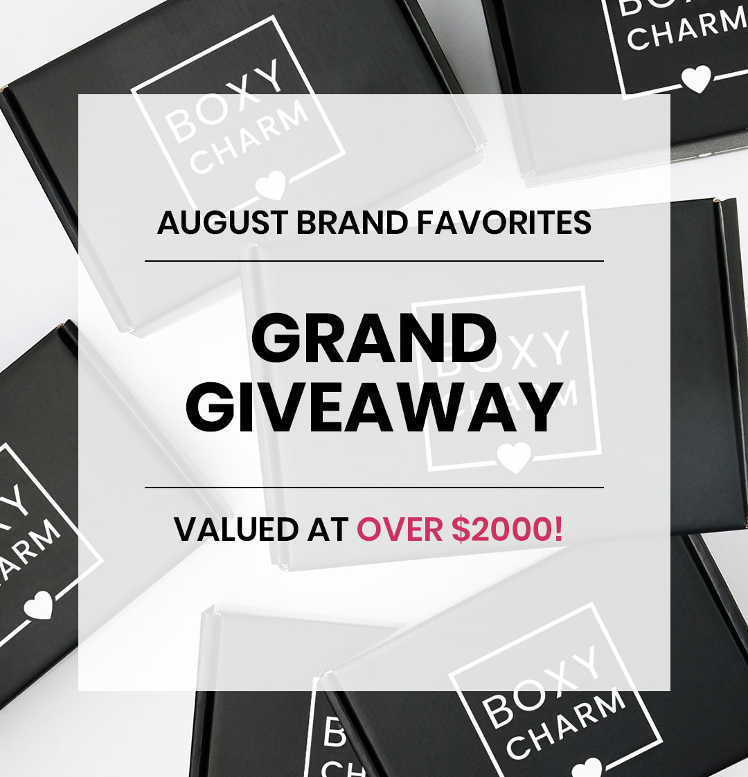 BoxyCharm August Giveaway Valued over $2000