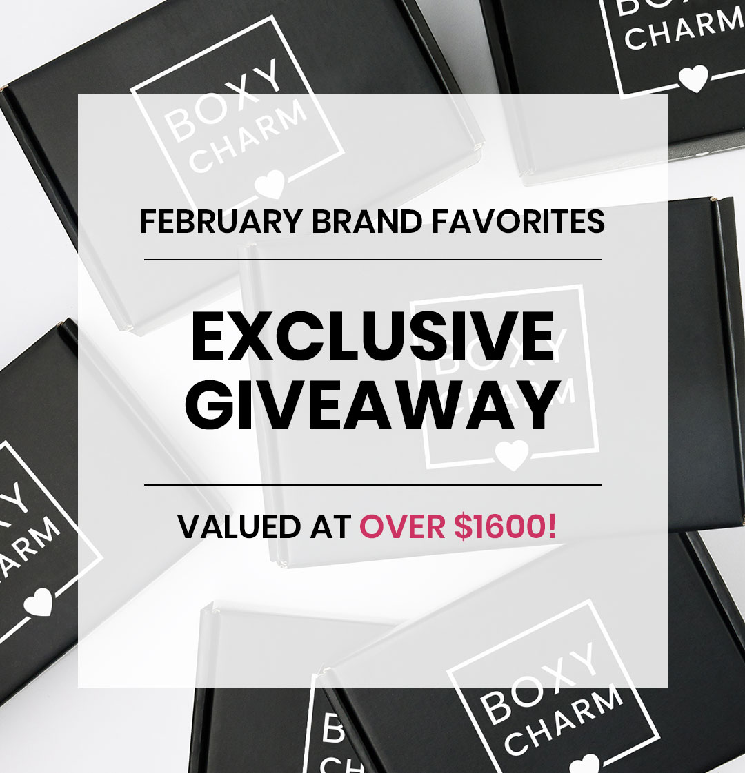 BoxyCharm February Giveaway Valued over $1600