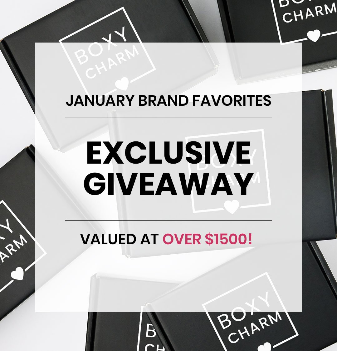BoxyCharm January Giveaway Valued over $1500