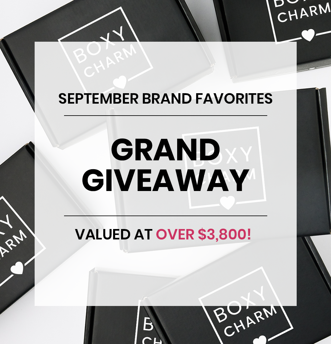 BoxyCharm August Giveaway Valued over $3800